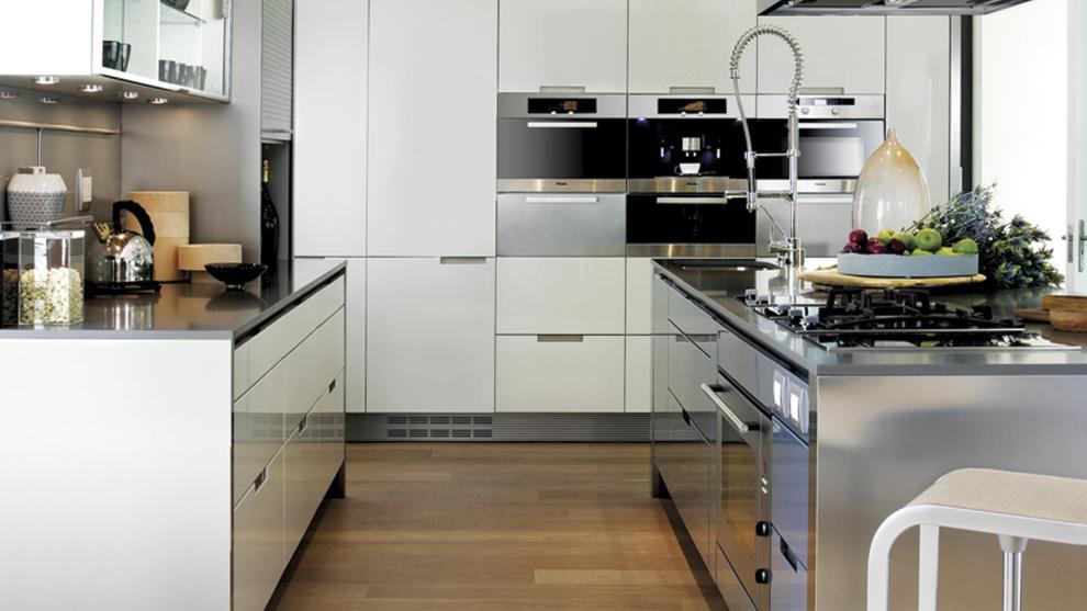 Cocinas de acero estudio cocinas dc - Cocinas lacadas en blanco ...