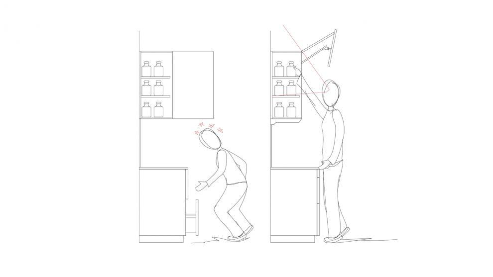 modulos altos y vitrinas