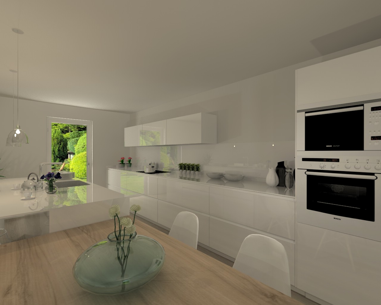 Proyecto cocina santos modelo line con encimera silestone for Proyecto cocina