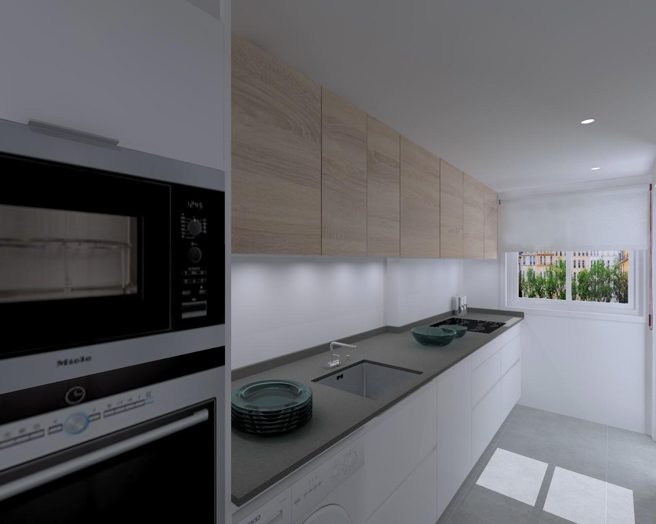 proyecto cocina santos modelo line e con encimera silestone en madrid estudio cocinas dc