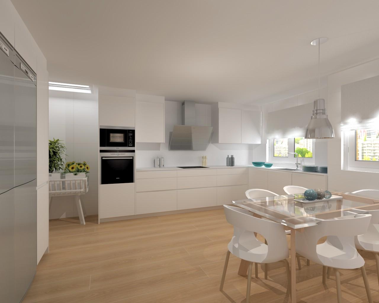 Proyecto cocina santos modelo line l con encimera dalian for Proyecto muebles de cocina