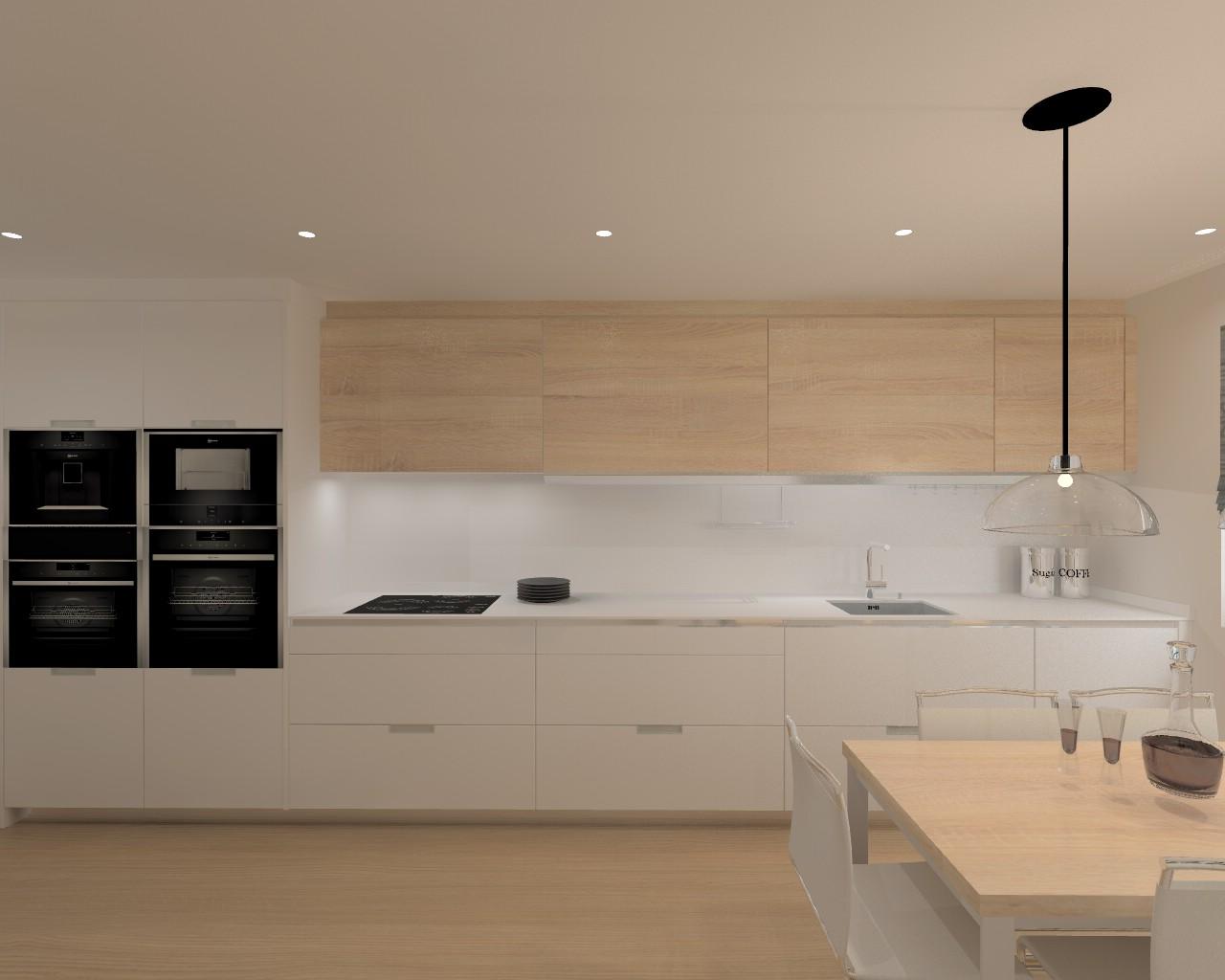 Proyecto cocina santos modelo line l con encimera dalian for Modelos de cocinas en l