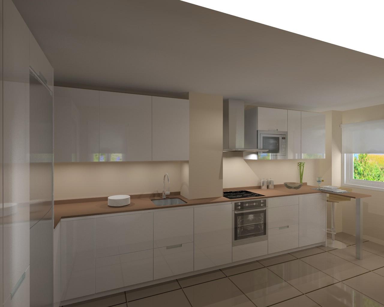 Proyecto de cocina en madrid minos l con encimera for M s mobiliario auxiliar para tu cocina s l