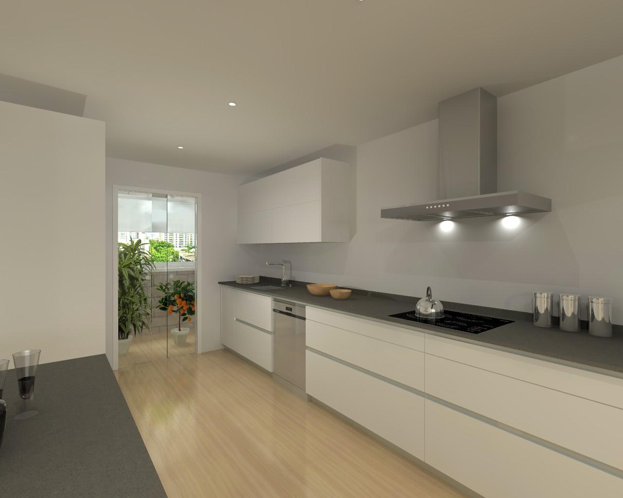 Cocina santos line con encimera silestone estudio cocinas dc for Proyecto cocina