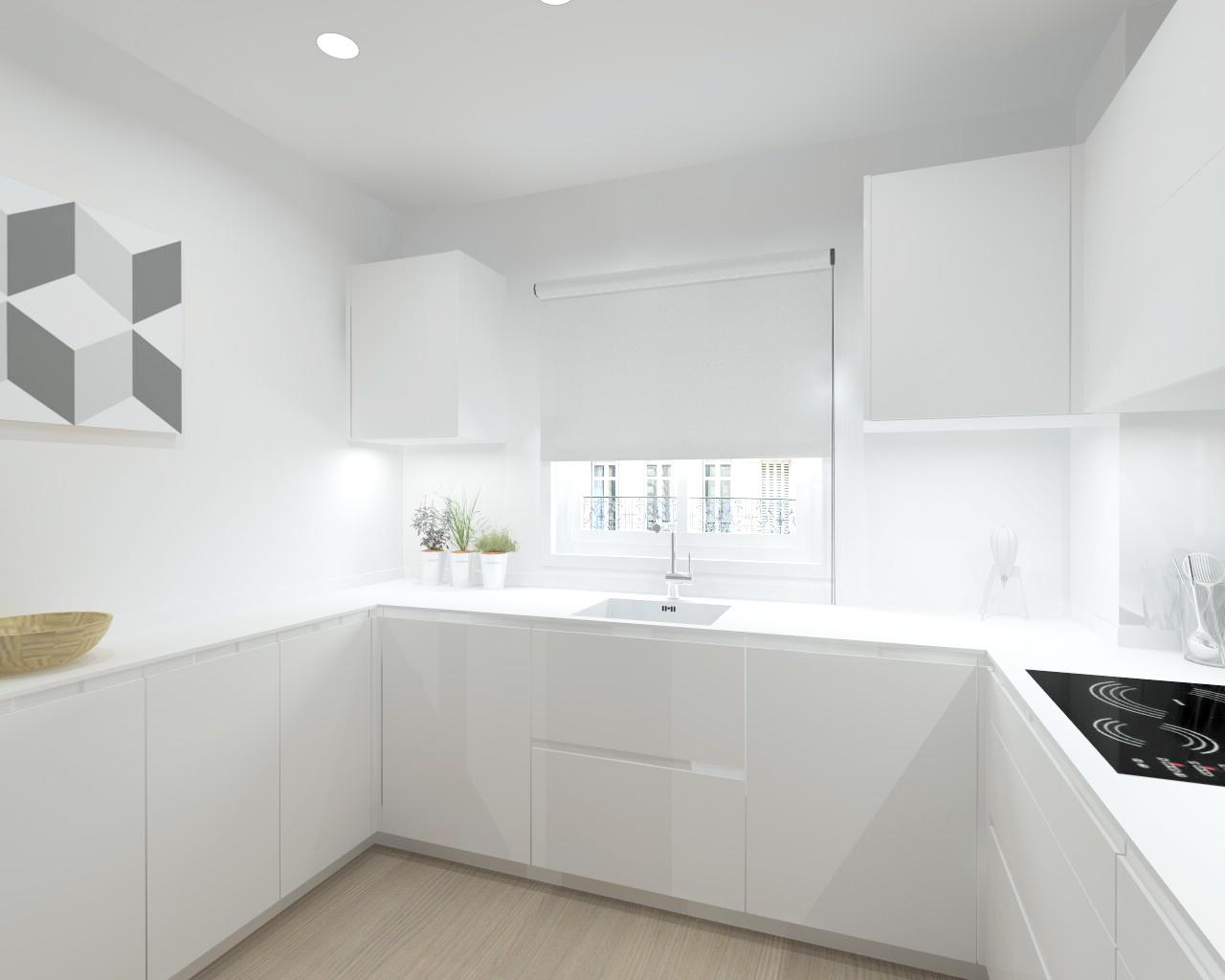 Cocina intra en un espacio nico estudio cocinas dc for Cocina salon espacio abierto