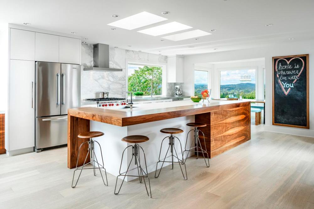 Ideas Para Las Cocinas Modernas Blancas - Iluminacion Para Cocinas ...
