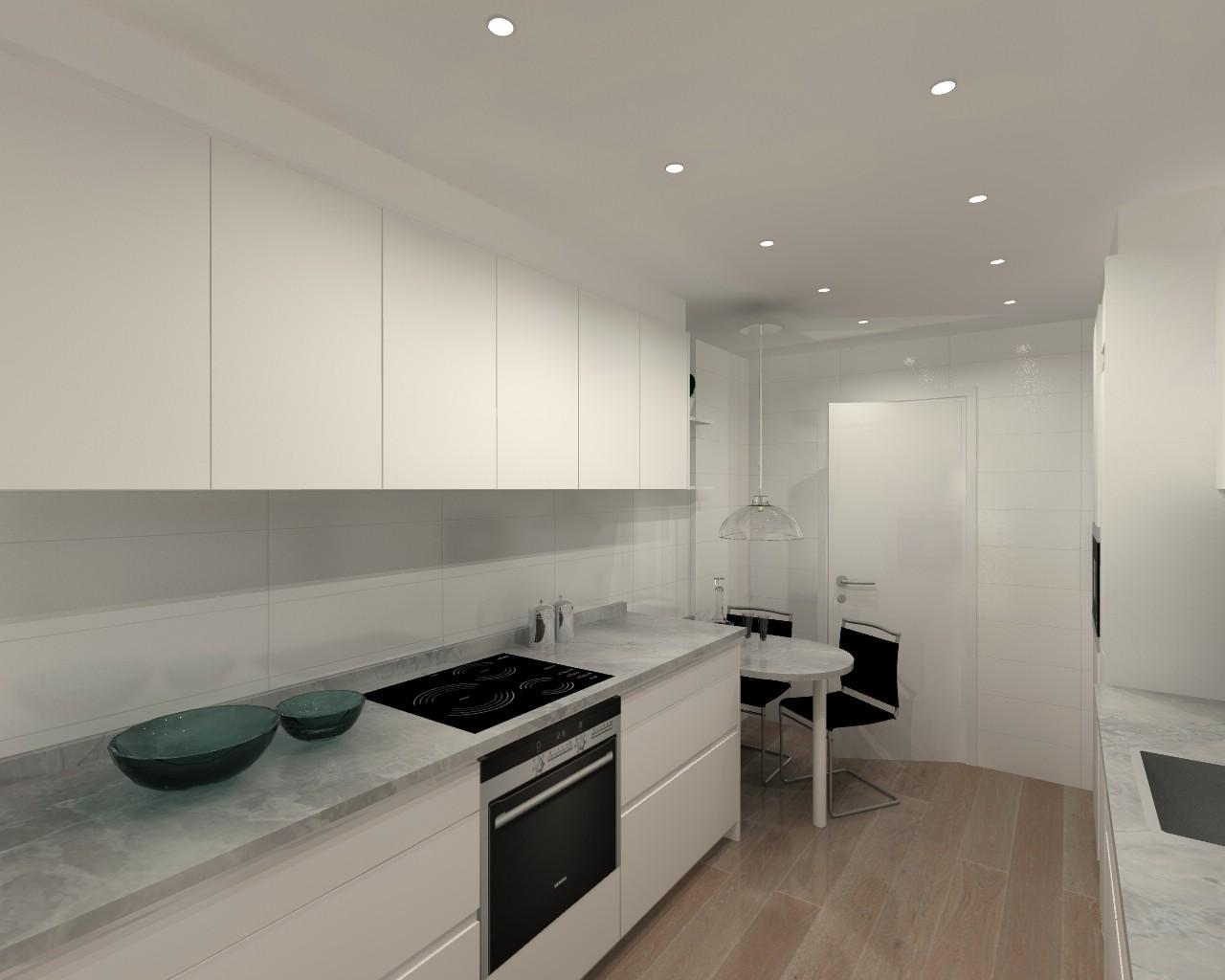 Cocina santos modelo intra e blanco encimera granito for Encimera cocina granito