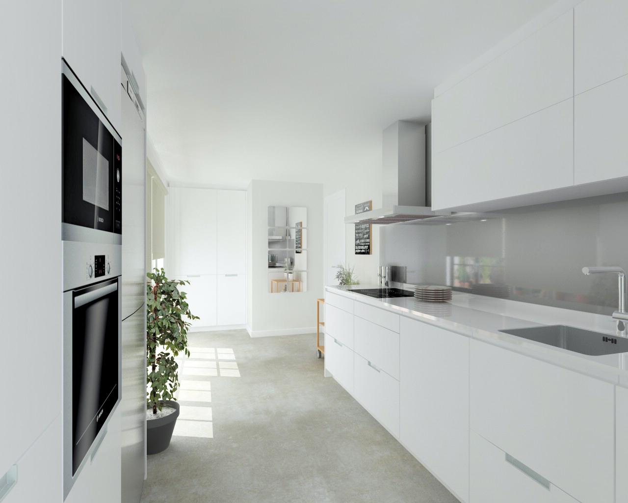 Imagen1 estudio cocinas dc for Cocinas blancas con silestone