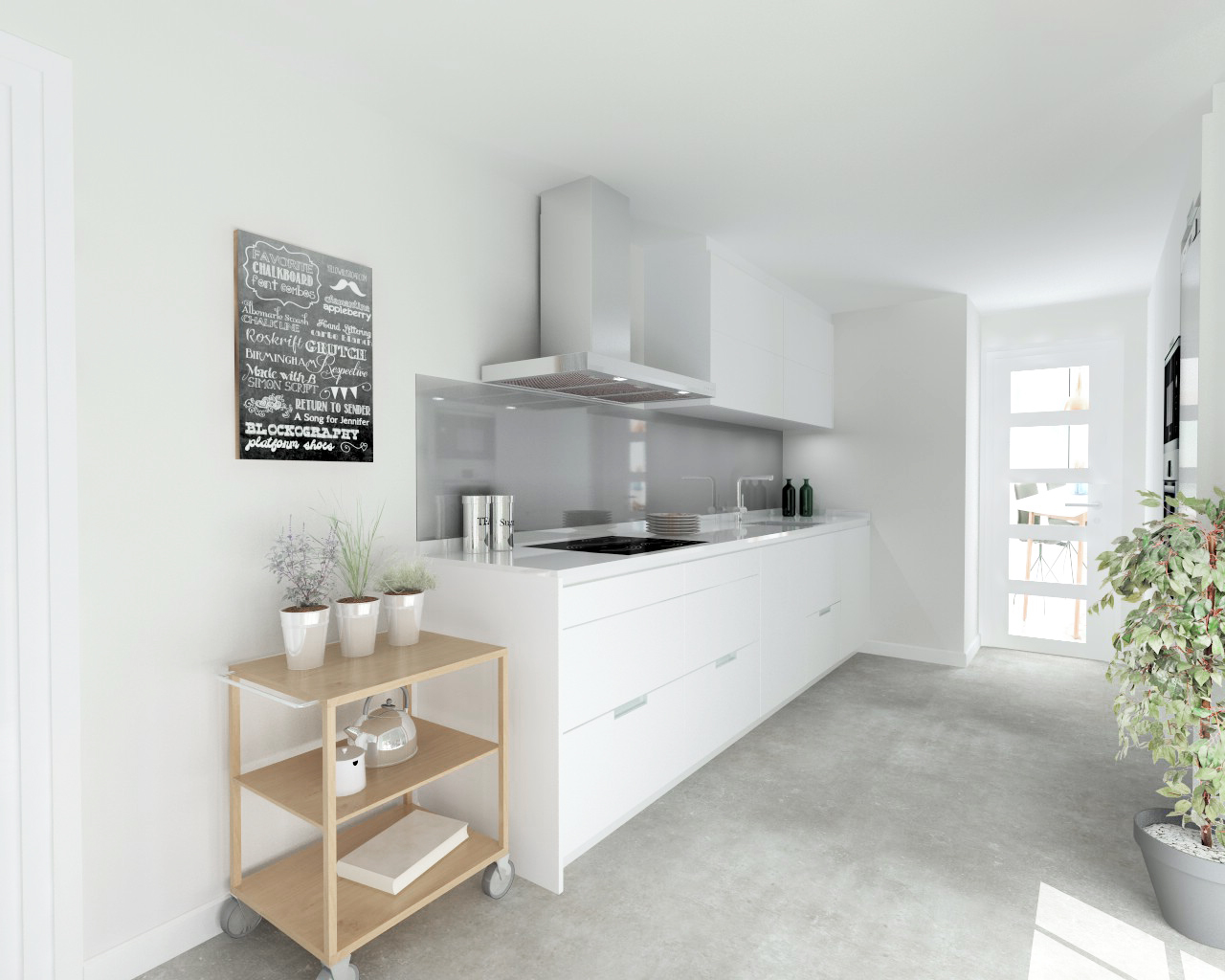 Imagen3 estudio cocinas dc - Encimera silestone blanco ...