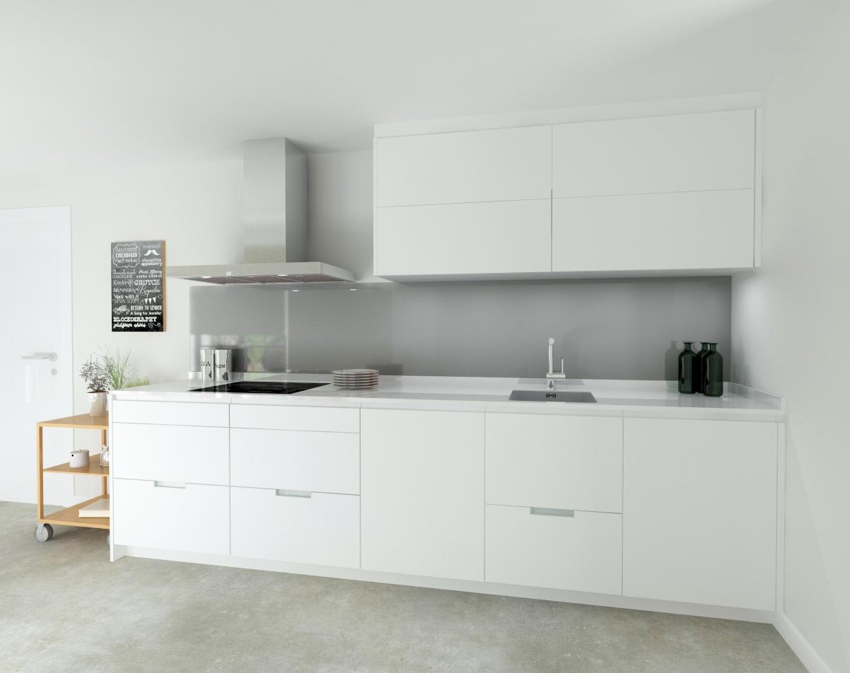 Cocina santos modelo line e estratificado blanco encimera for Silestone o marmol para cocina