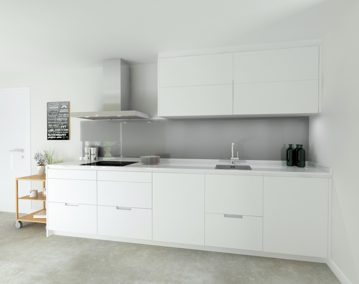 Cocina santos modelo line e estratificado blanco encimera for Figuras en drywall para cocinas