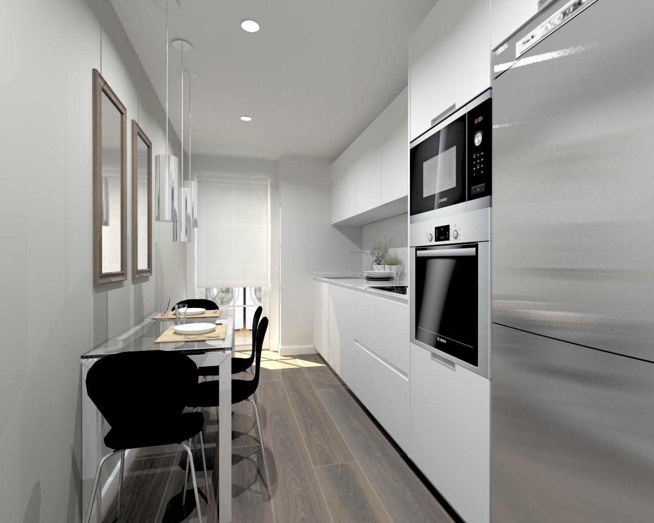 Cocina santos modelo line e blanco encimera silestone - Cocinas de silestone ...
