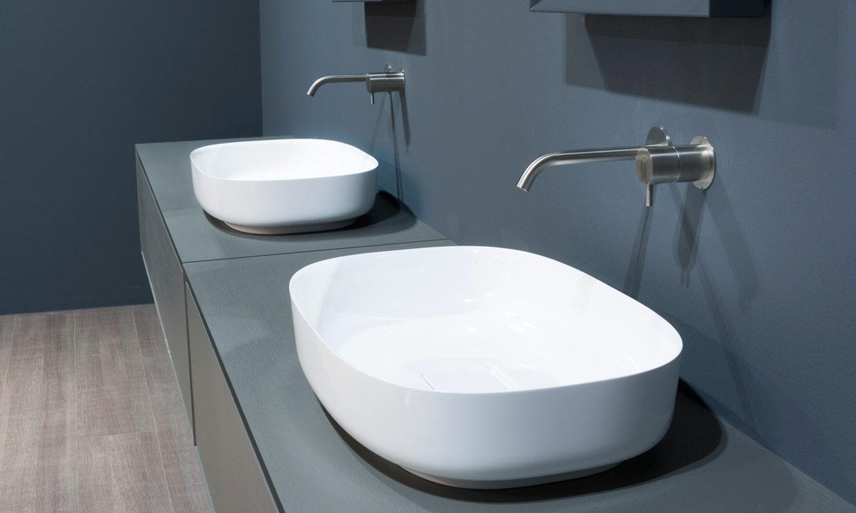 La nueva tendencia en lavabos estudio cocinas dc - Lavabos rectangulares sobre encimera ...