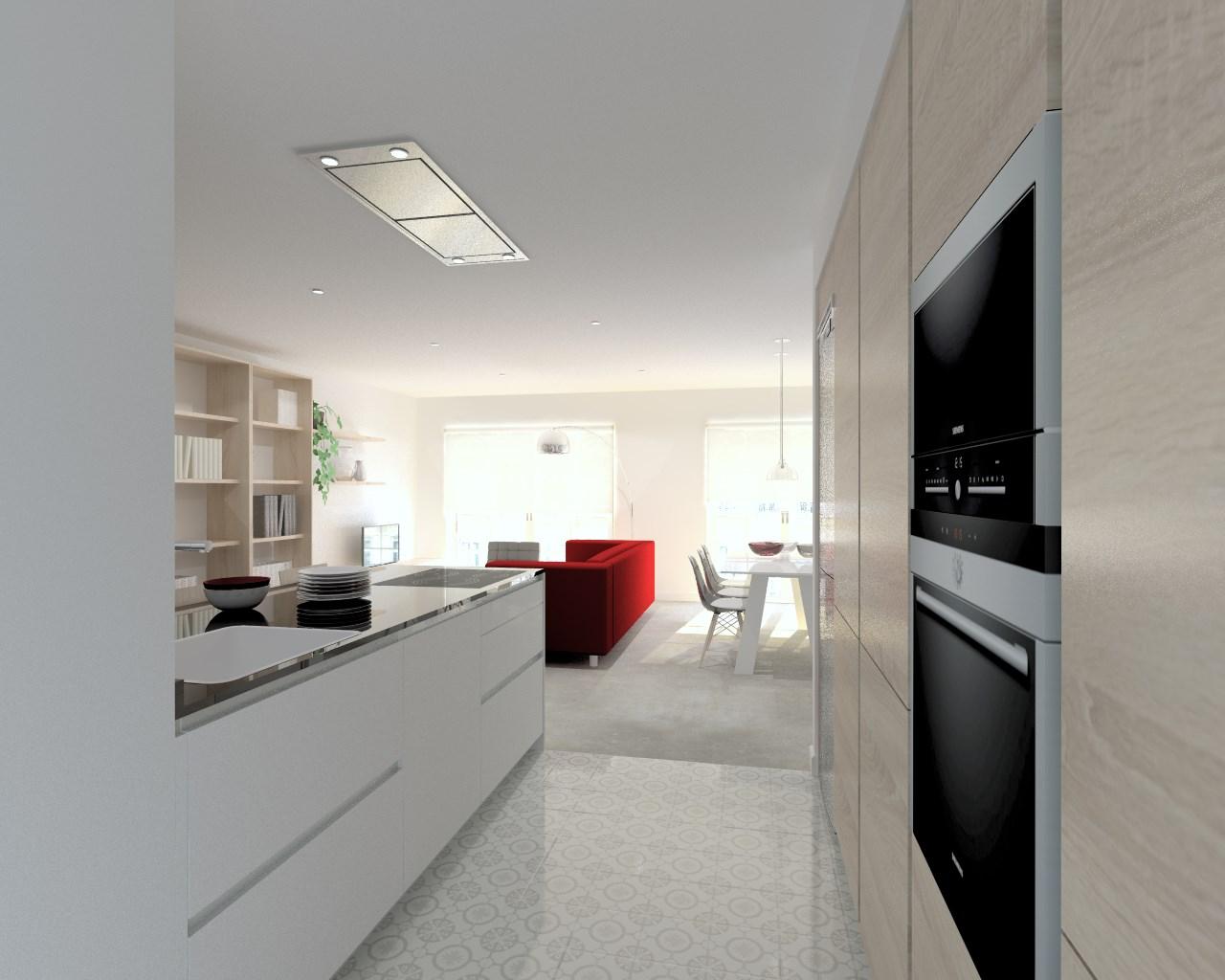 Cocina santos modelo line estratificado blanco roble for Encimera granito blanco