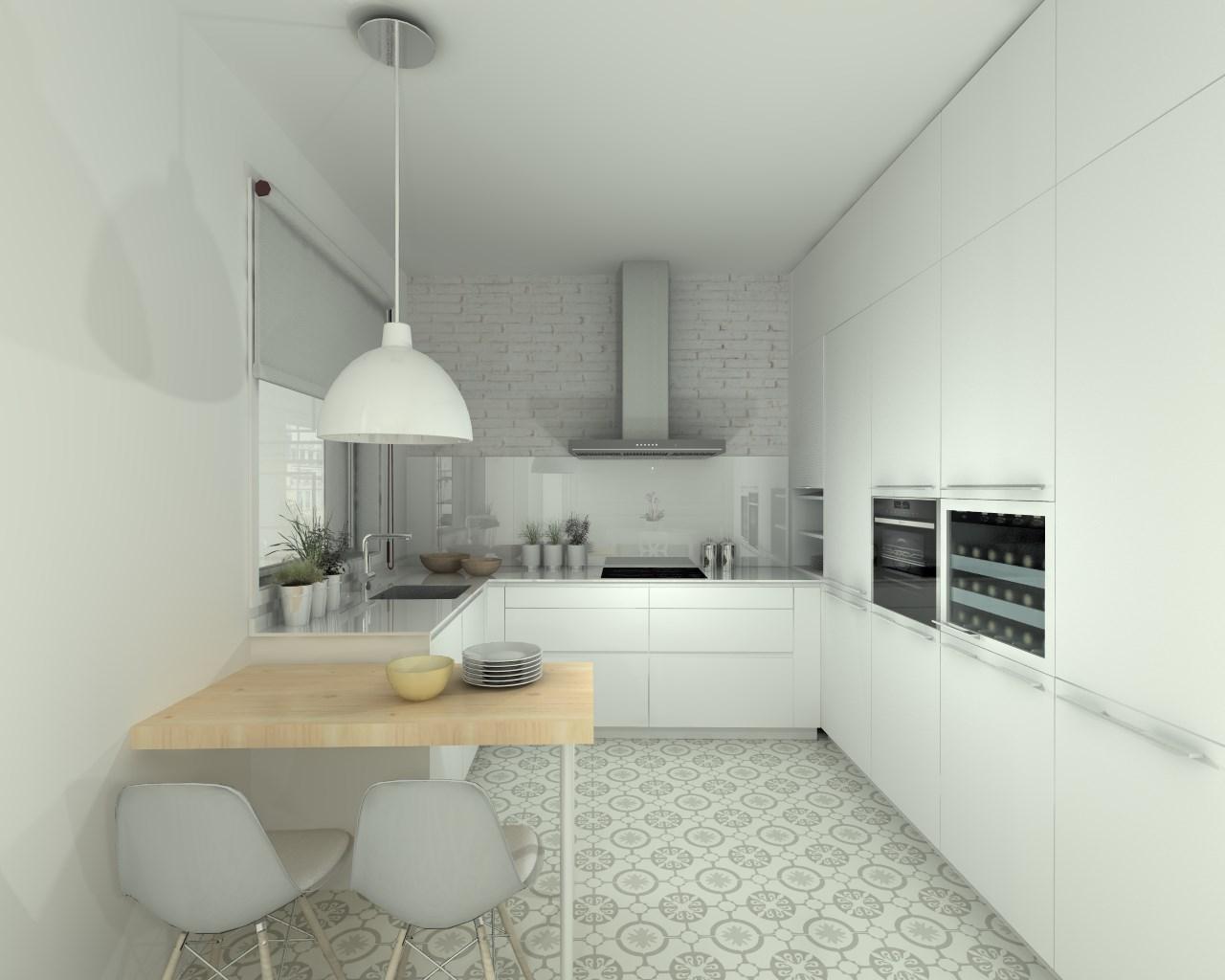 Cocina santos modelo line estratificado blanco encimera for Modelo de cocina 2016