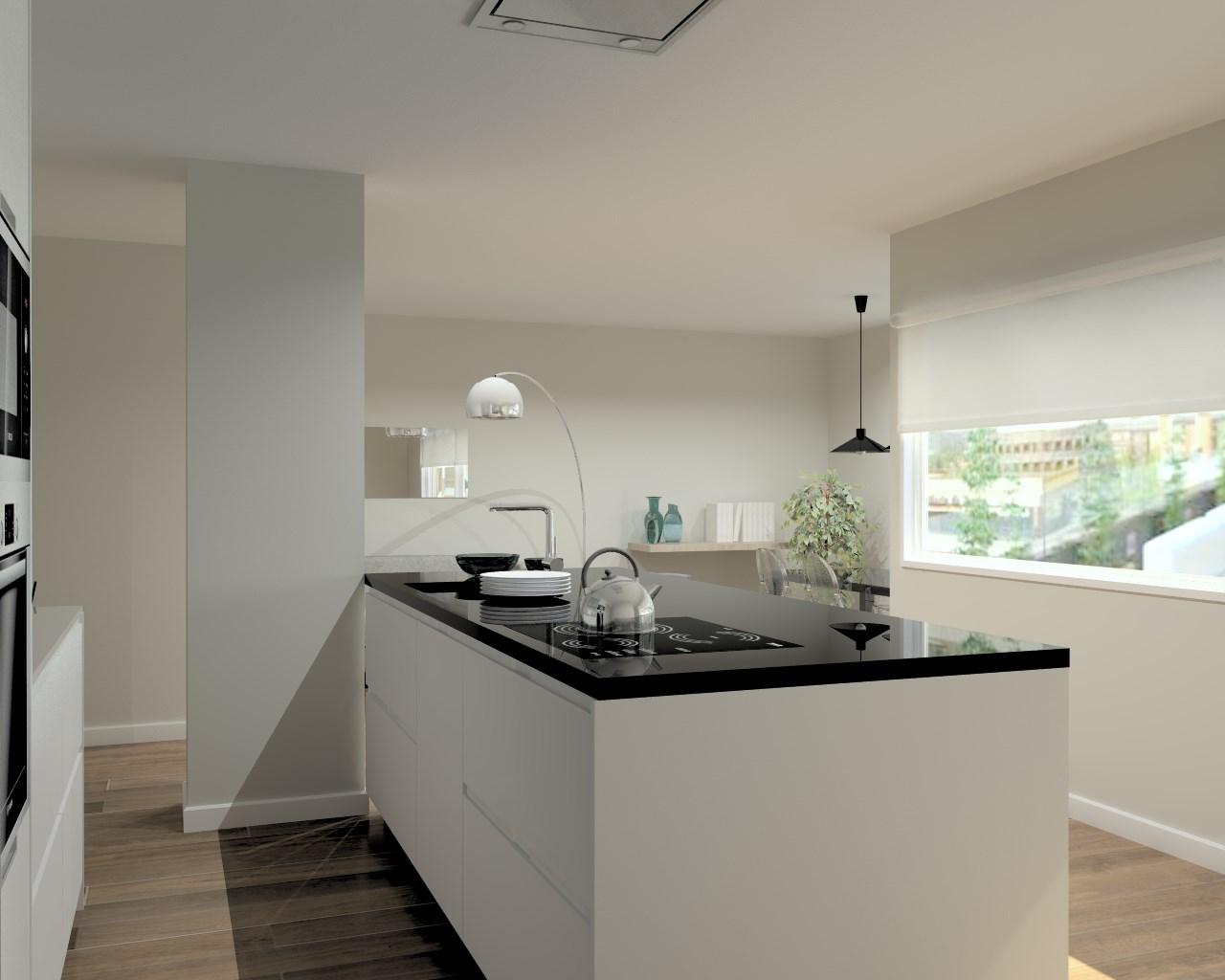 Cocina santos modelo intra laminado seda blanco encimeras for Granito blanco para cocina