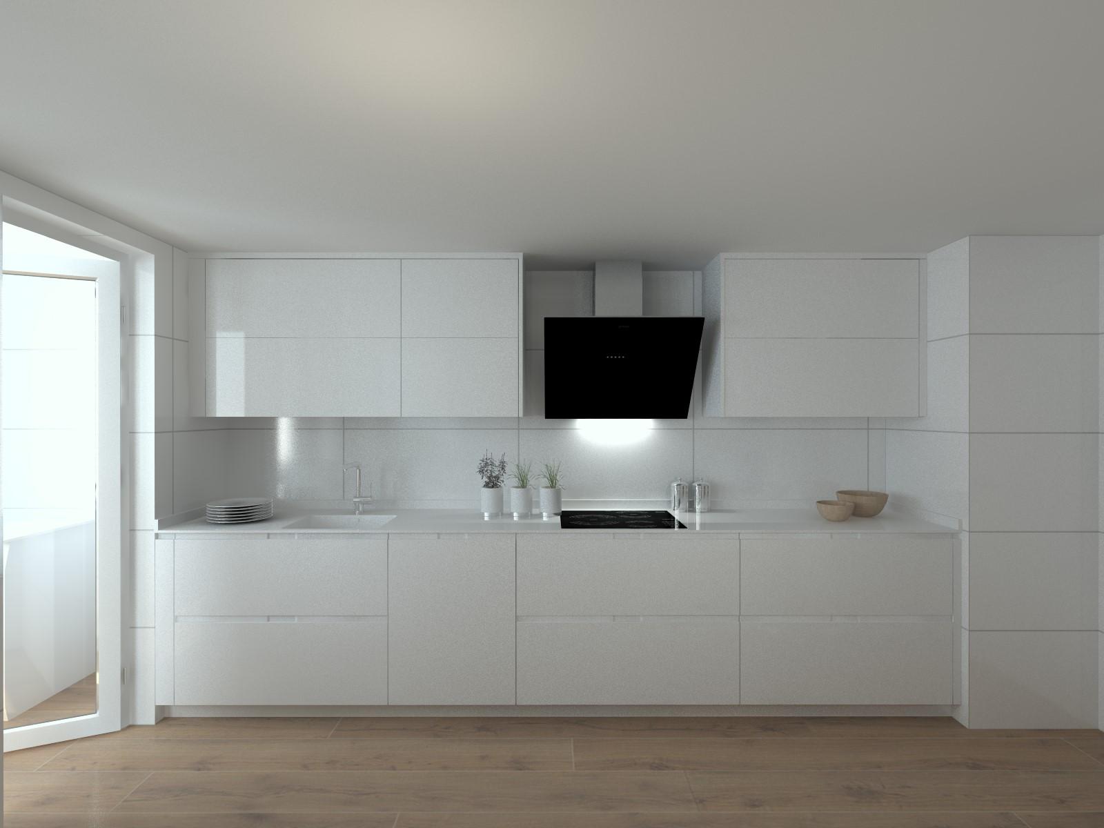 Cocina santos modelo intra laca blanca encimera dalian - Cocina blanca encimera blanca ...