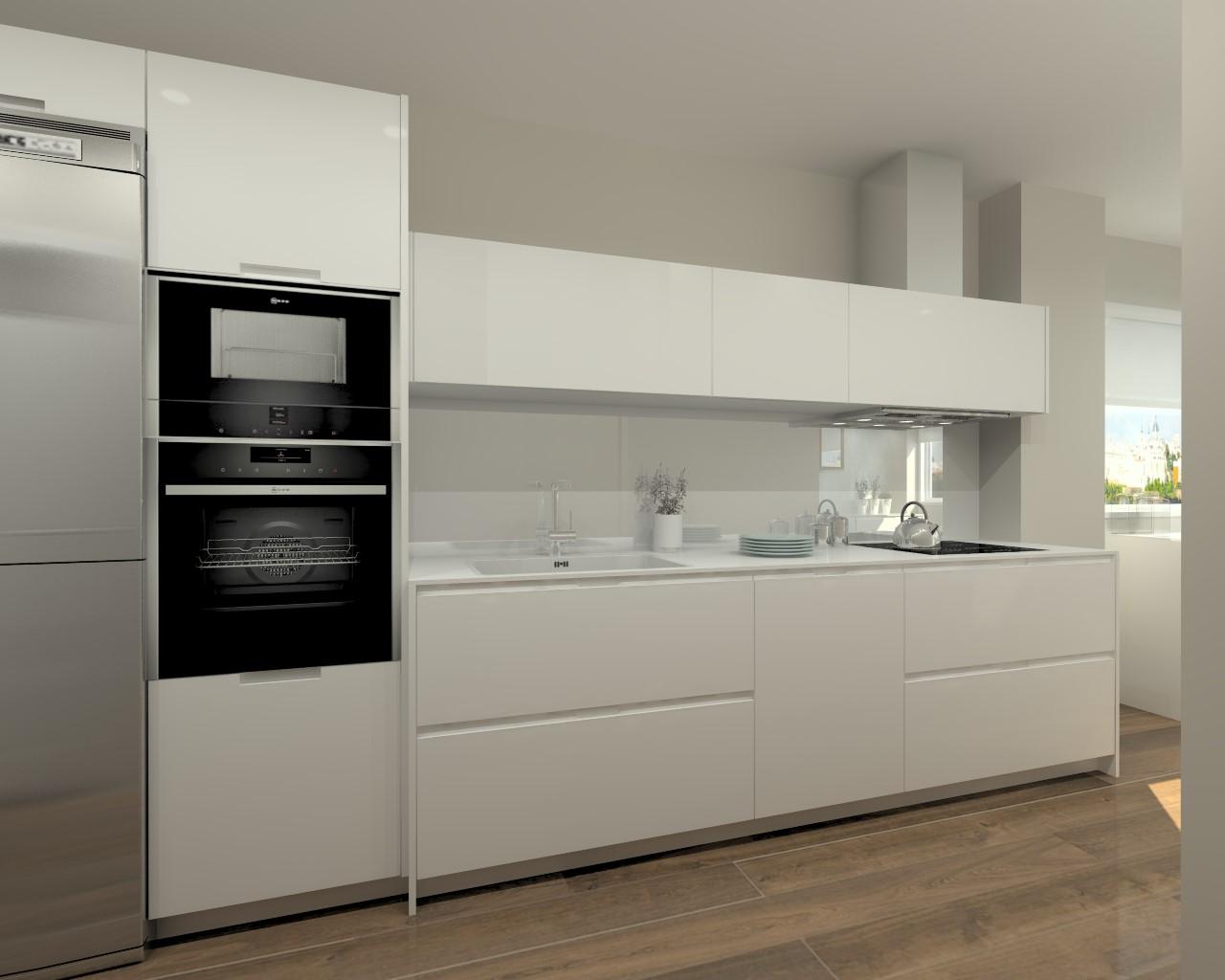 Cocinas santos modelo iintra laca seda blanco encimera - Muebles para encimeras ...