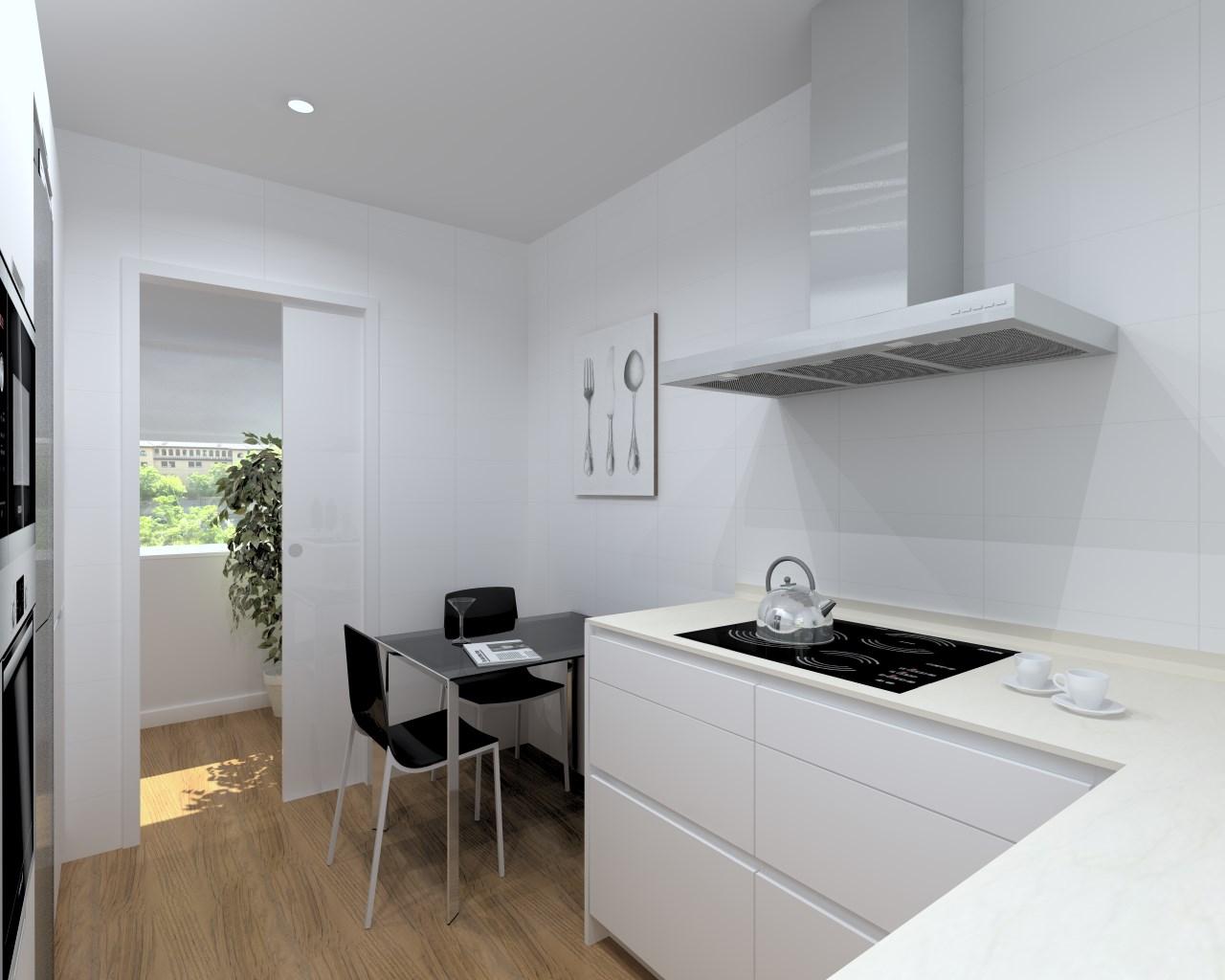 Cocinas santos modelo line laminado seda blanco encimera for M s mobiliario auxiliar para tu cocina s l