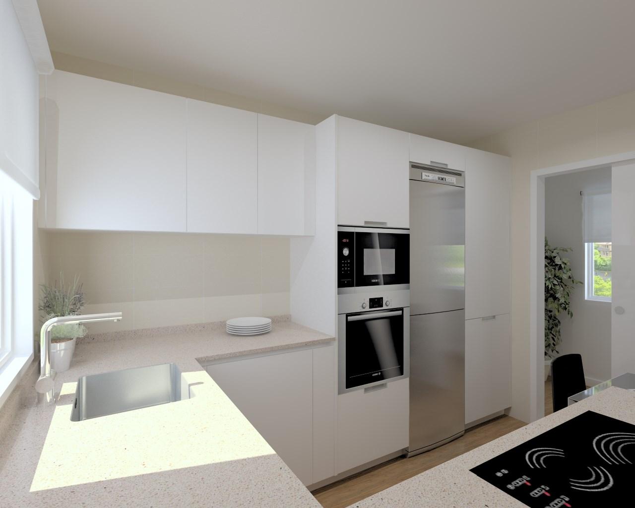Cocinas santos modelo line laminado seda blanco encimera - Mesas de cocina de silestone ...