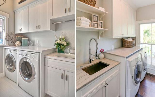 C mo configurar un lavadero funcional estudio cocinas dc for Mueble lavadora exterior