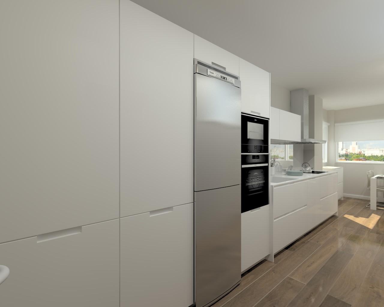 Cocina Blanca Lacada Mate ~ Gormondo.com = Ideas de Diseño de Cocina ...