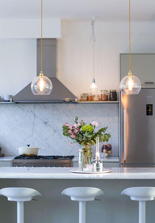 Magnífico Cocina Iluminación Isla Ornamento - Ideas de Decoración de ...