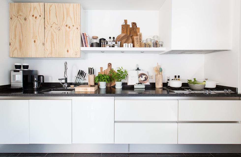 estanterias en las cocinas
