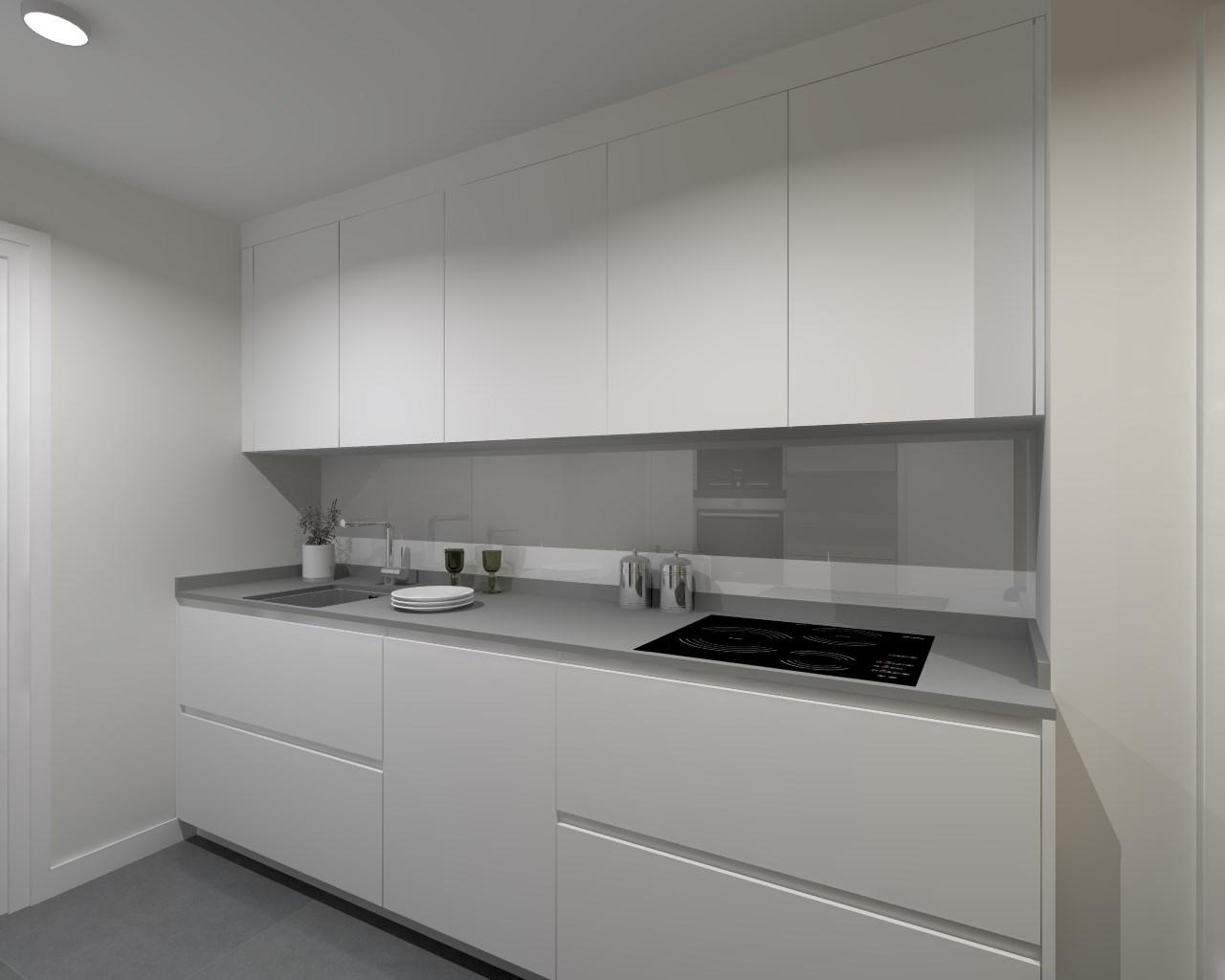 Cocina santos modelo line laminado seda blanco encimera - Cocinas santos valencia ...