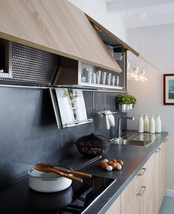 Muebles altos de cocina como elemento de confort estudio - Alicatar cocina detras muebles ...