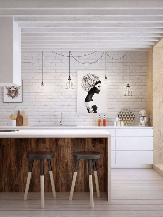 Paredes con Ladrillos visto en las cocinas