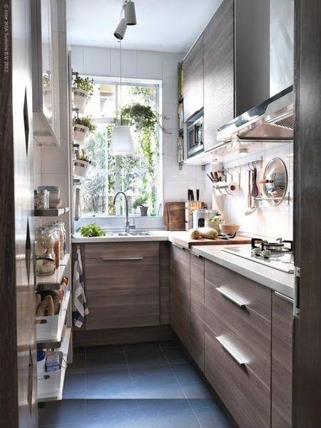 cocinas pequeas alargadas - Cocinas Alargadas