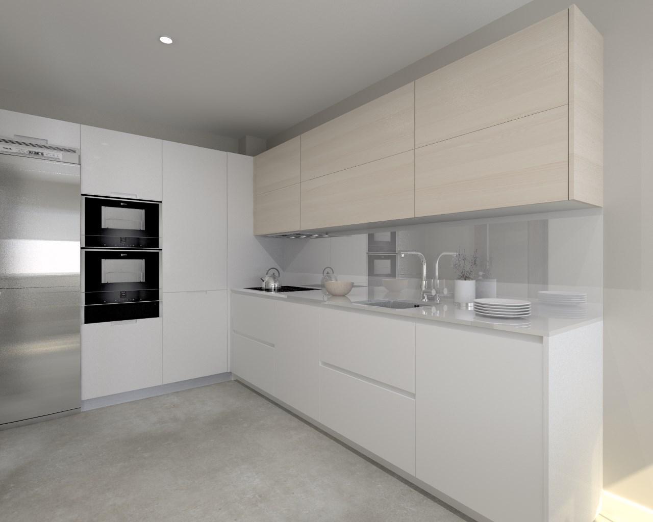 Cocina santos modelo minos laca color blanco seda mate - Muebles de cocina color blanco ...