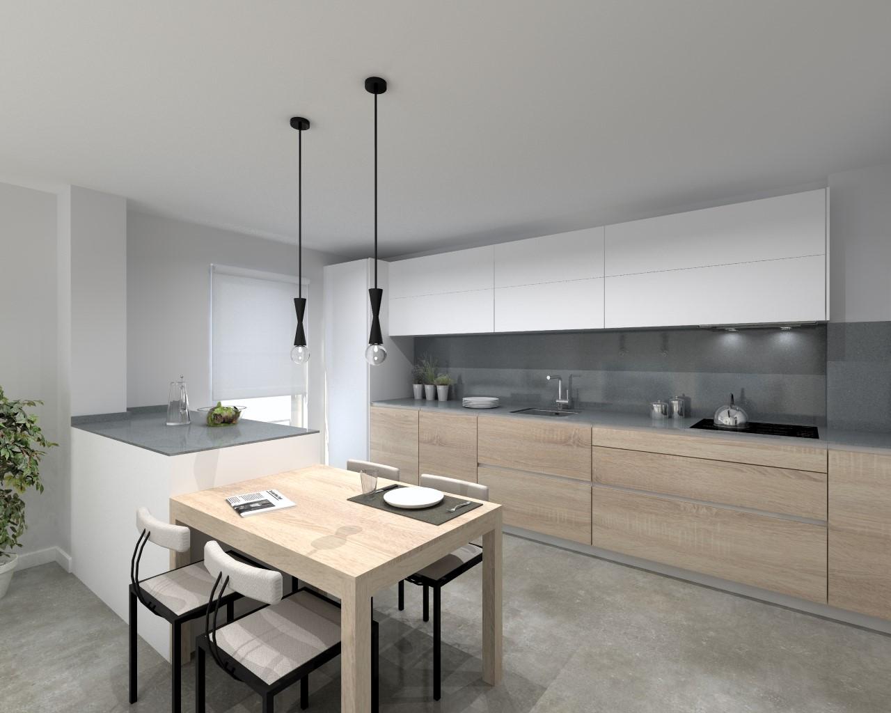 Cocina santos modelo line e y line l estratificado seda - Cocinas de color blanco ...