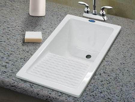Una zona de lavado con estilo estudio cocinas dc - Lavaderos ikea ...
