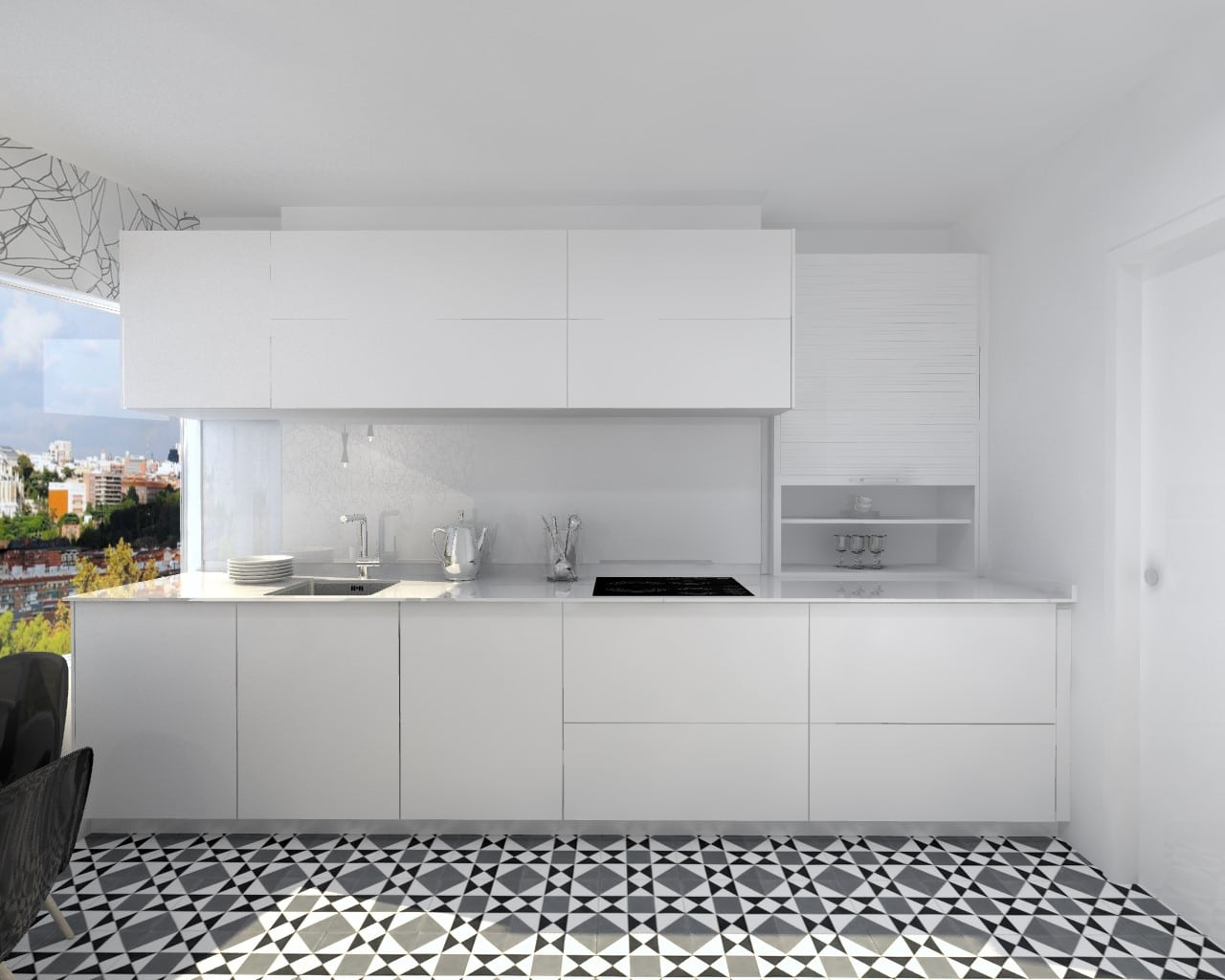 Cocina santos line e blanco sapporo seda estudio cocinas dc - Cocinas santos valencia ...