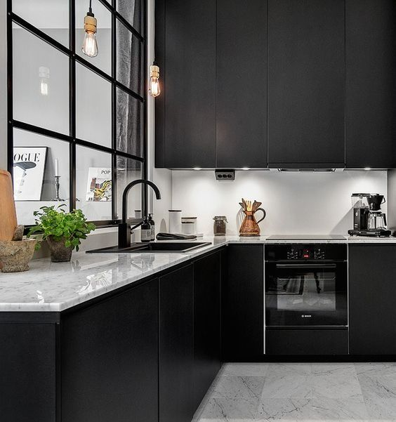 Ideas para decorar cocinas color negro - Estudio Cocinas DC