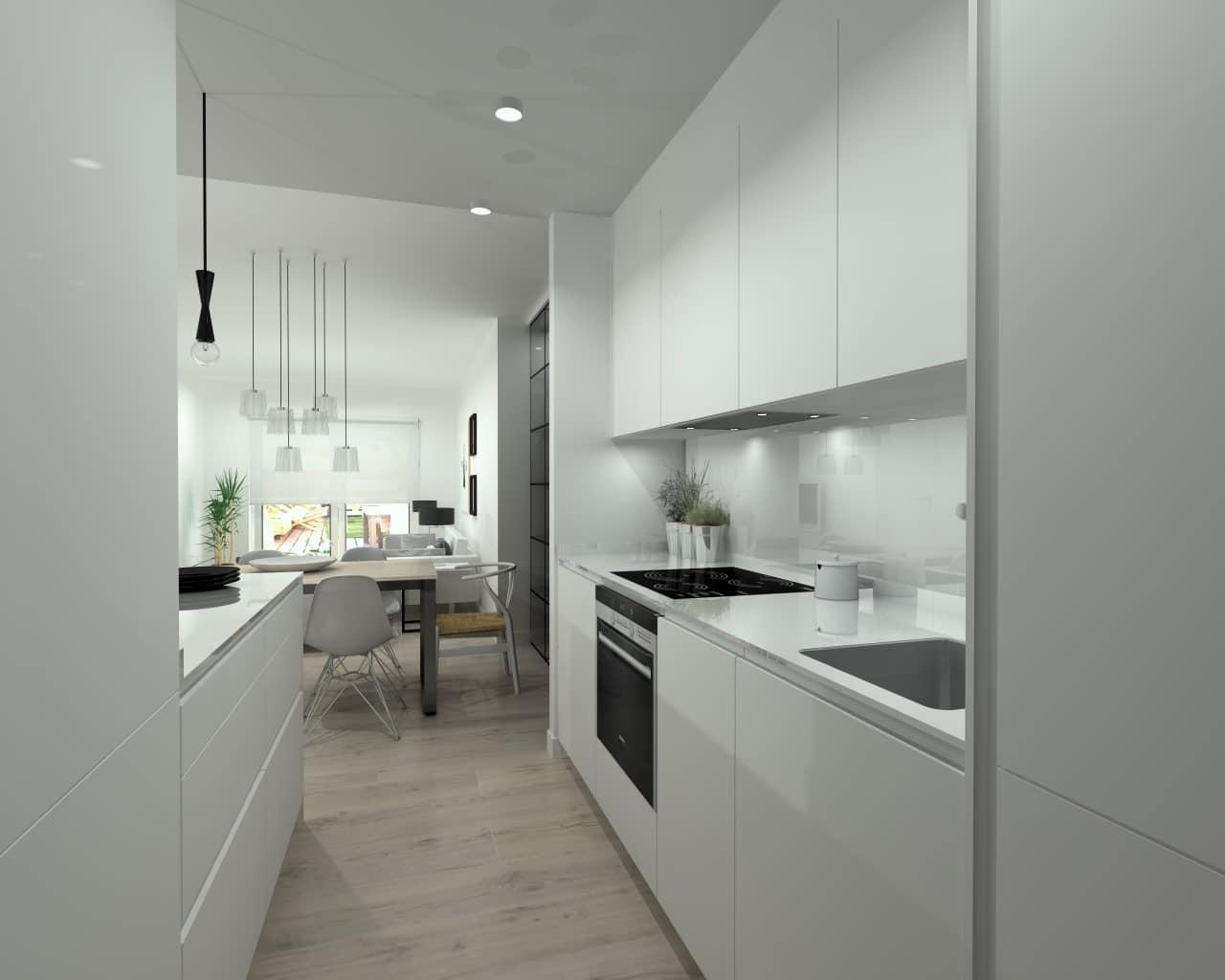 Cocina abierta en apartamento peque o estudio cocinas dc for Pintura a color cocina abierta