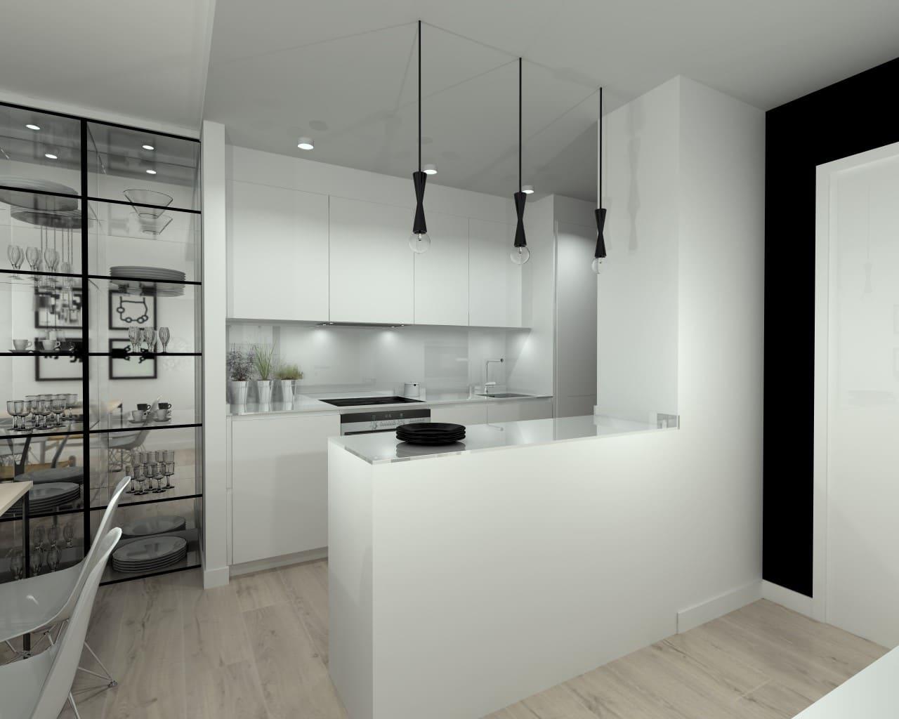 Cocina abierta en apartamento peque o estudio cocinas dc for Cocinas modernas para apartamentos pequenos