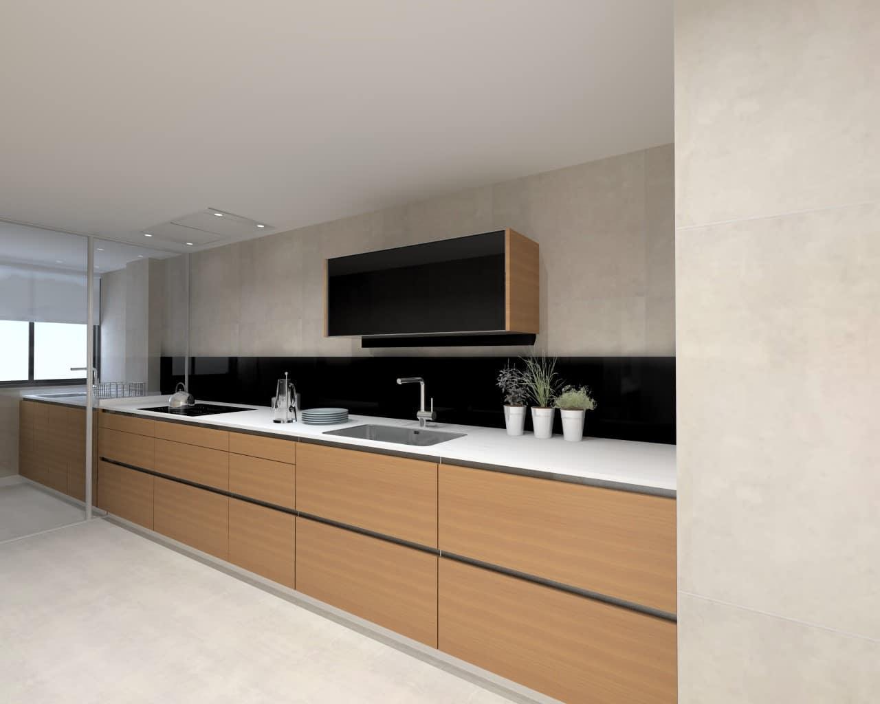Una cocina de dise o r stico y moderno estudio cocinas dc - Cocina diseno moderno ...