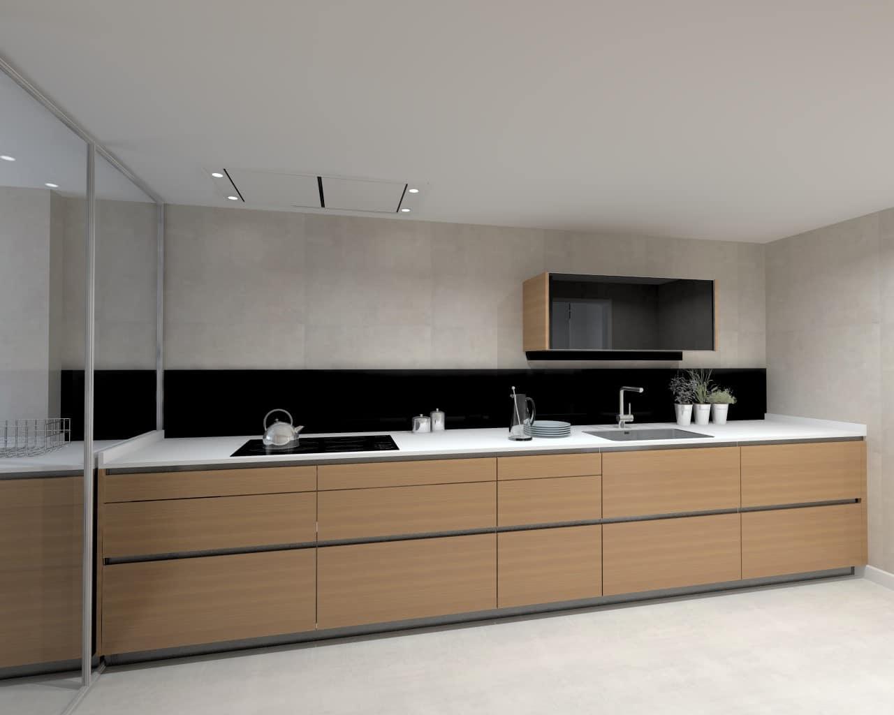 Una cocina de dise o r stico y moderno estudio cocinas dc for Aplicacion para diseno de cocinas