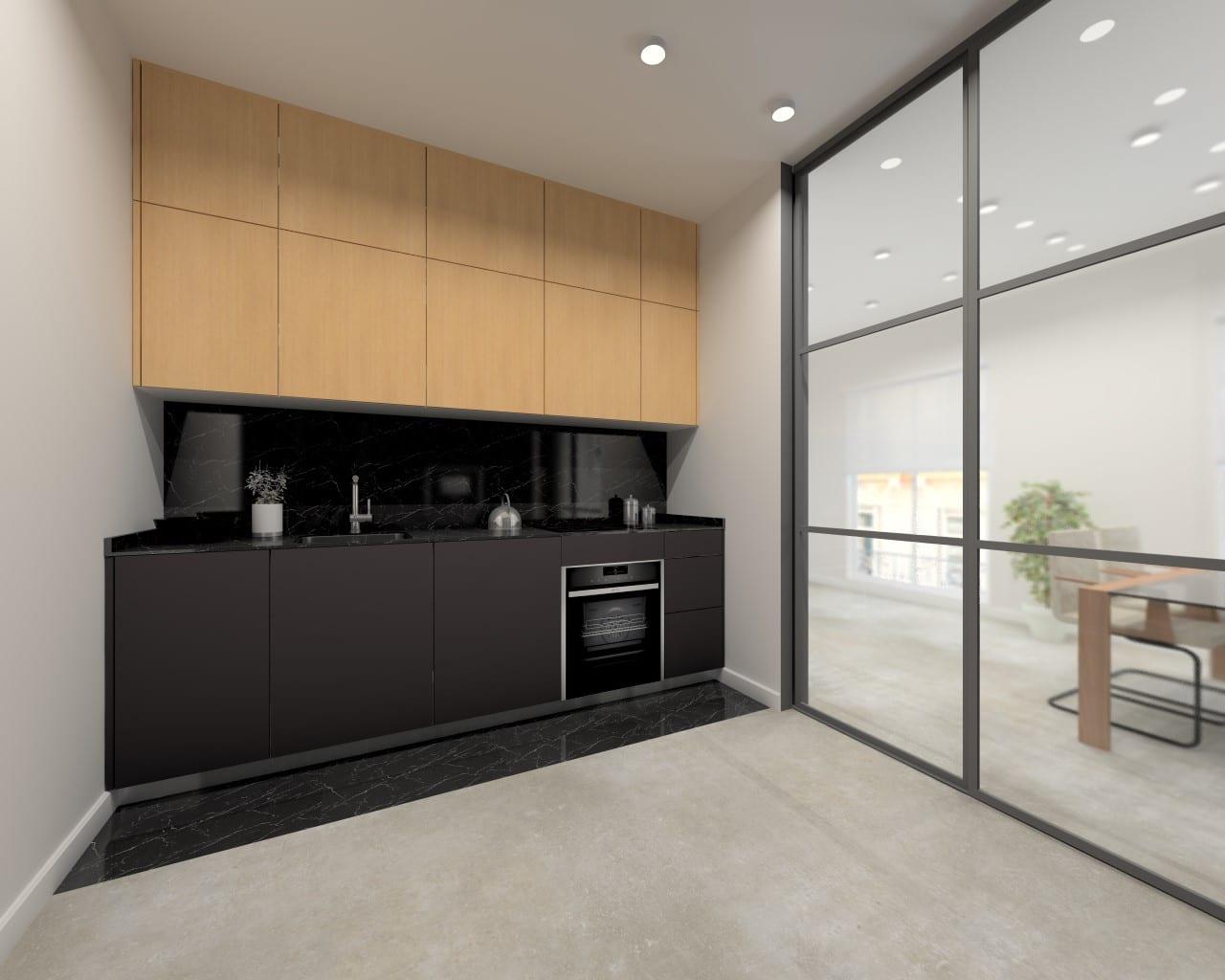 Di s a las cocinas negras estudio cocinas dc for Color roble natural