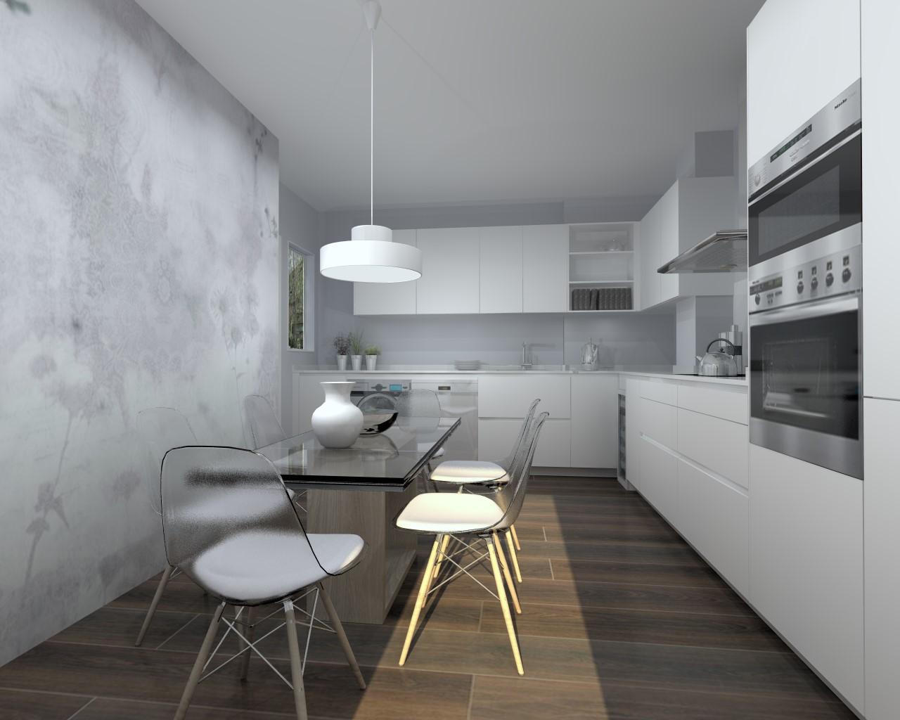 El papel pintado en cocinas estudio cocinas dc - Papel pintado en cocina ...