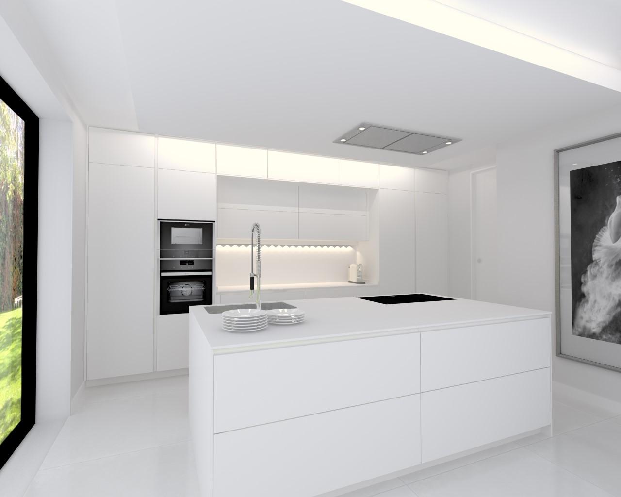 Cocina Santos con muebles blanco Innsbruck - Estudio Cocinas DC