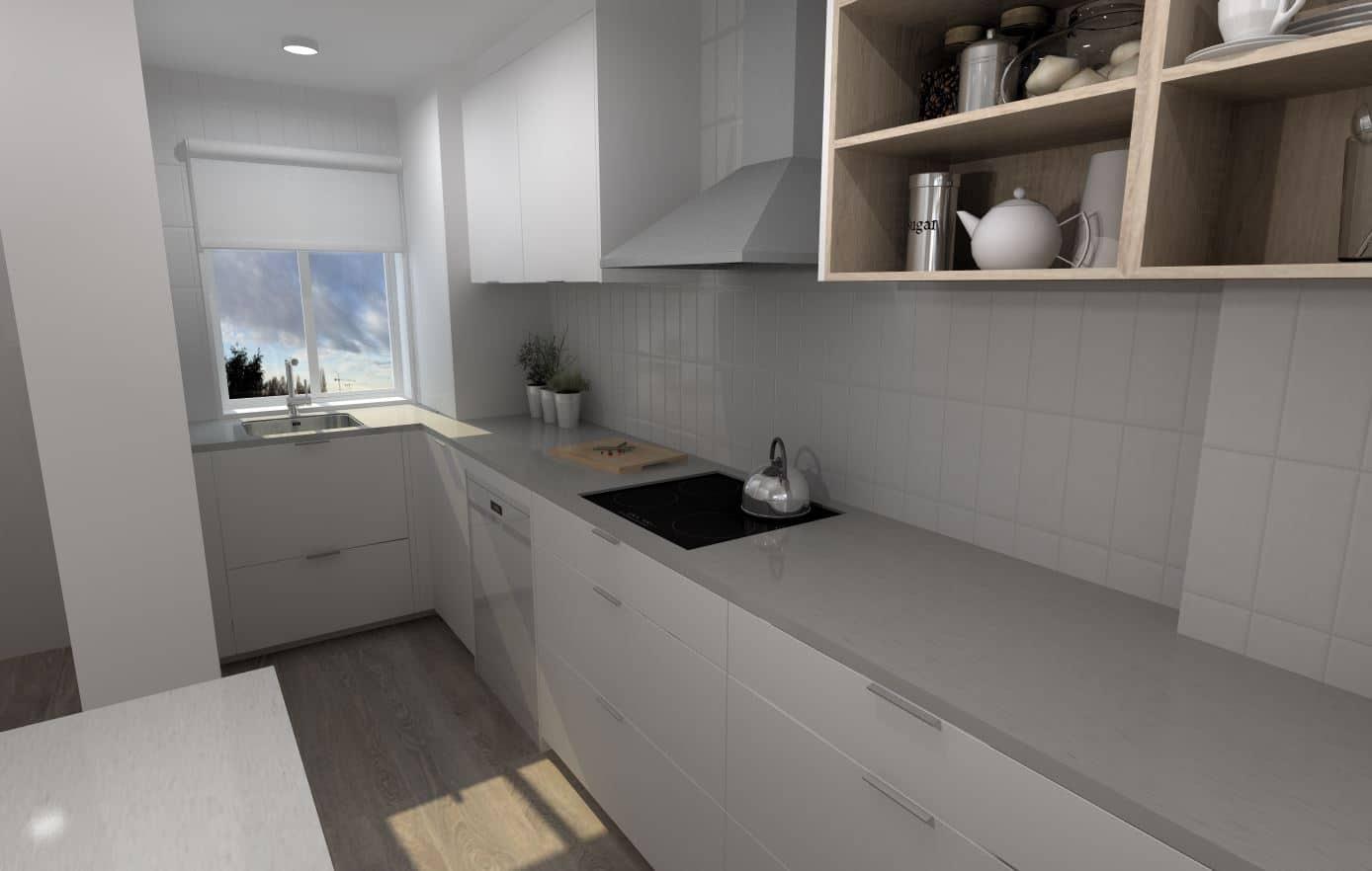 La cocina con tonos grises siempre será un acierto