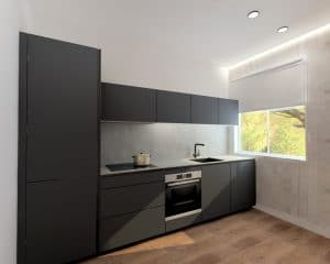 cocina abierta al salon