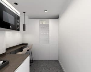 cocinas pequeñas con gran capacidad de almacenamiento