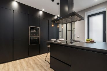 Cocina negra moderna