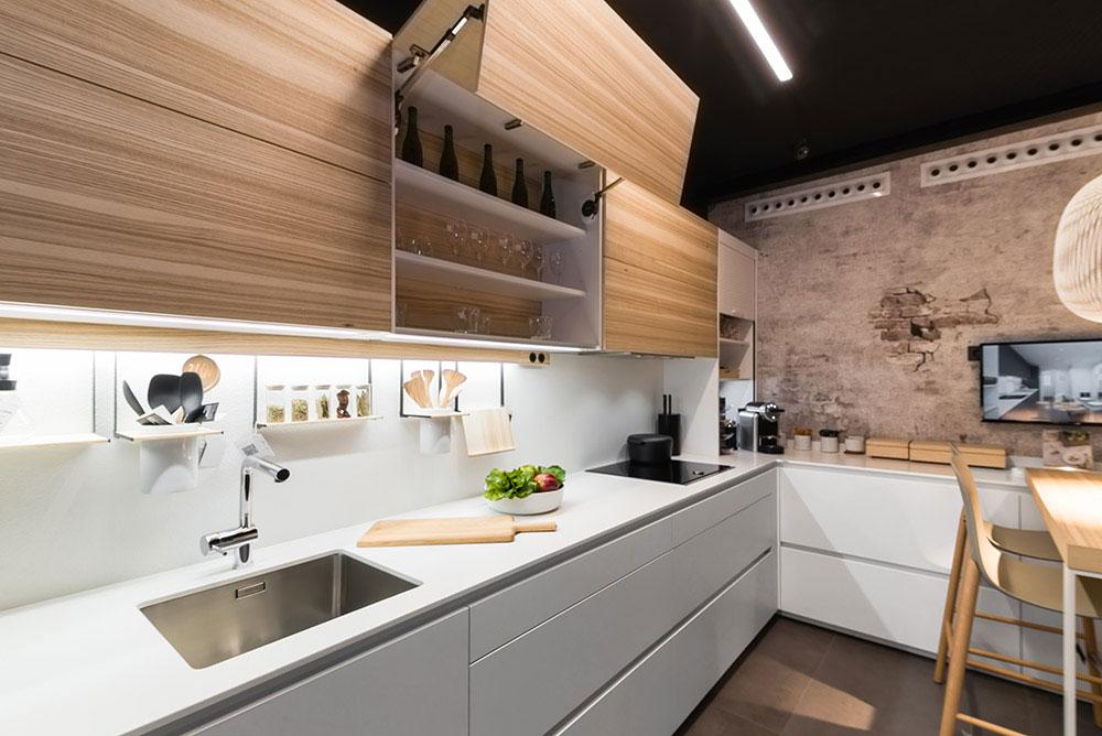 Mueble alto cocina santos Blanco y madera