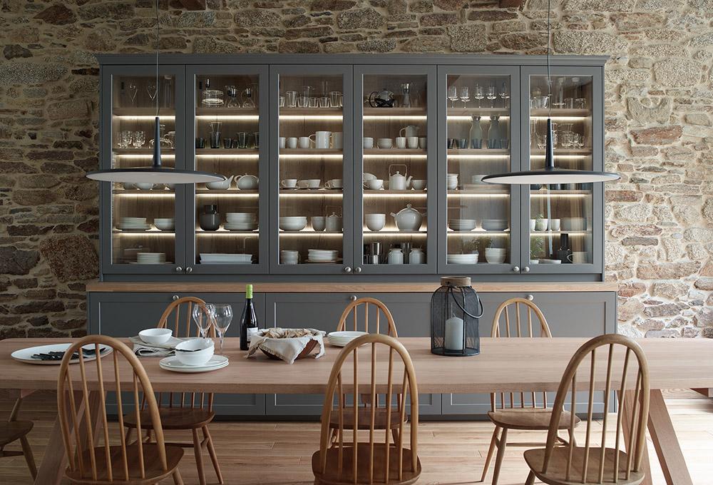 Muebles de cocina Santos y mesa en madera